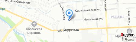Байкал FLORA на карте Иркутска