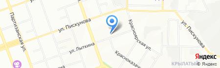 Школа на карте Иркутска