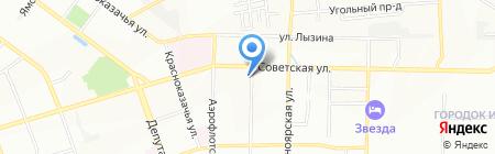 Рубин на карте Иркутска