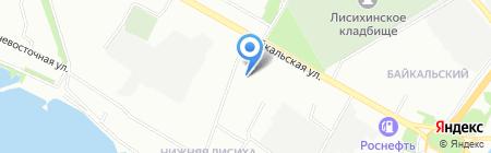 Универсал на карте Иркутска