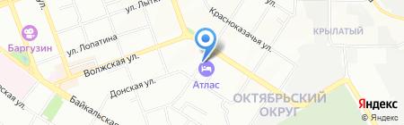 Атлас на карте Иркутска