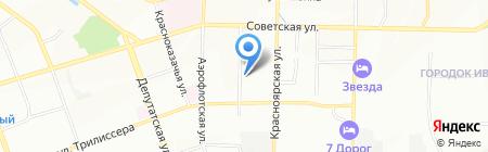 Трактир на карте Иркутска