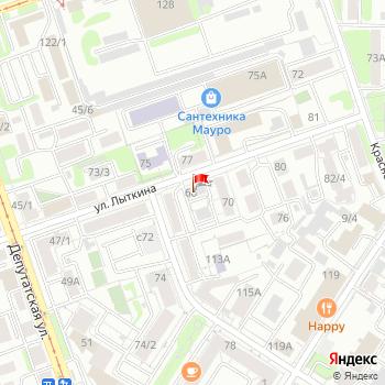г. Иркутск, ул. Лыткина,64 на карта