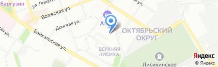 Байк на карте Иркутска