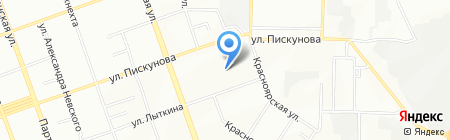 Муж на час на карте Иркутска
