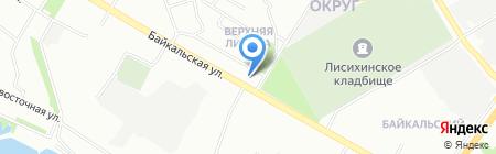 Аква Марадона на карте Иркутска
