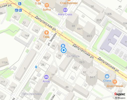 Управляющая компания «Крепость» на карте Иркутска