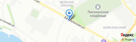 Голд Туристик на карте Иркутска