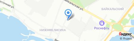 Тюльпан на карте Иркутска