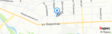 Милена на карте Иркутска