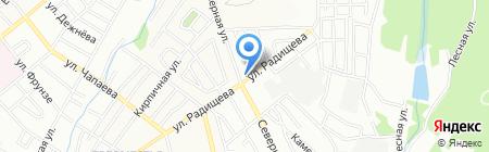 Киоск по продаже овощей и фруктов на ул. Радищева на карте Иркутска