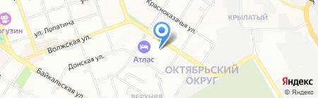 Химбыт на карте Иркутска