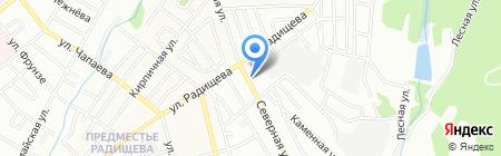Аленка на карте Иркутска
