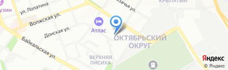 СКС на карте Иркутска