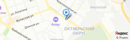 Оранжевая аптека на карте Иркутска