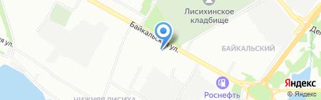 СПМК-7 на карте Иркутска