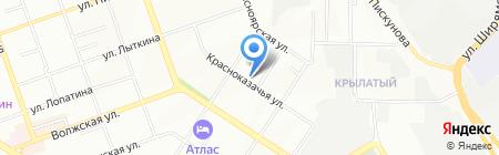 Белый свет на карте Иркутска