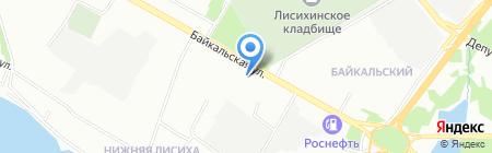 Газоны Сибири на карте Иркутска