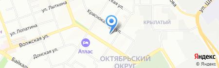 Топаз плюс на карте Иркутска