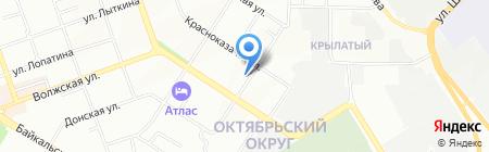 Букетто на карте Иркутска