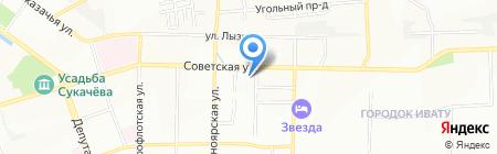 Леди ИКС на карте Иркутска