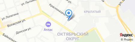 Легенда Байкала на карте Иркутска