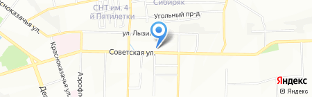Водолей на карте Иркутска
