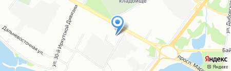 Метр на карте Иркутска