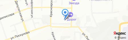 Феликс на карте Иркутска