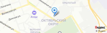 Бастион на карте Иркутска