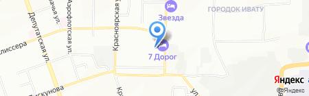 Янта на карте Иркутска
