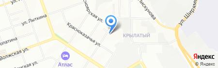 Гермес на карте Иркутска