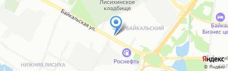 Позная на Байкальской на карте Иркутска