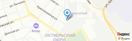 Автосервис на ул. 1-ая Красноказачья на карте Иркутска