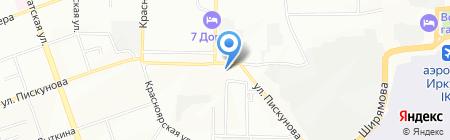 Этос на карте Иркутска