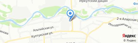 Аладдин-авто на карте Иркутска