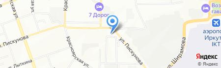 Лемпира на карте Иркутска