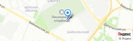 Магазин продуктов на Байкальской на карте Иркутска