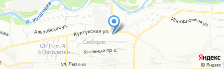 ДиВа на карте Иркутска