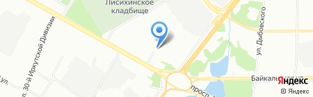 ЭфиР на карте Иркутска