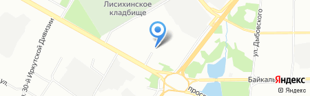 Березовое такси на карте Иркутска