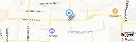 Ульяна на карте Иркутска
