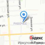 Средняя общеобразовательная школа №66 на карте Иркутска