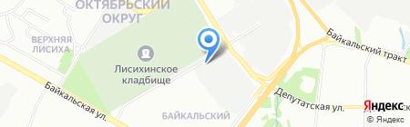 Автомойка на Релейке на карте Иркутска