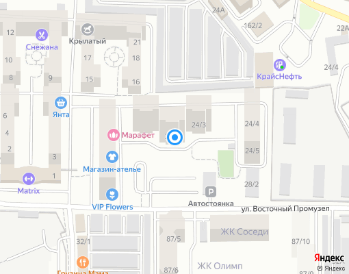 Управляющая компания «ФЛАГМАН» на карте Иркутска