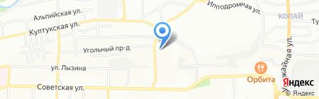 Армастек-Байкал на карте Иркутска