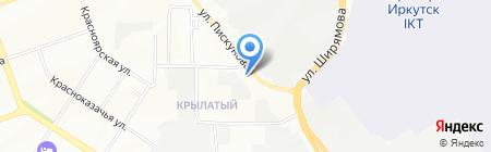 Средняя общеобразовательная школа Леонова на карте Иркутска
