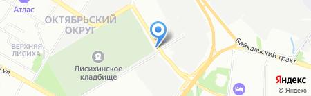 Автокомплекс на карте Иркутска