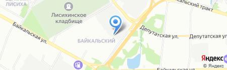 Спорт-Контур на карте Иркутска