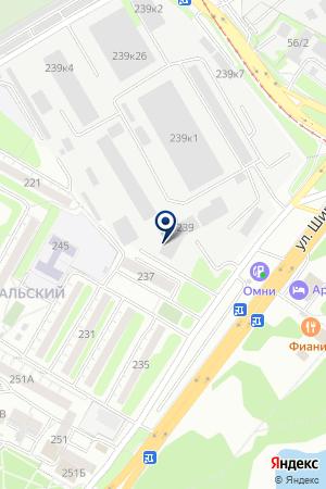 Бабр на карте Иркутска
